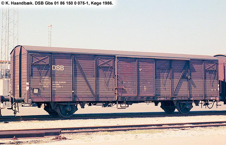 DSB Gbs 1500075