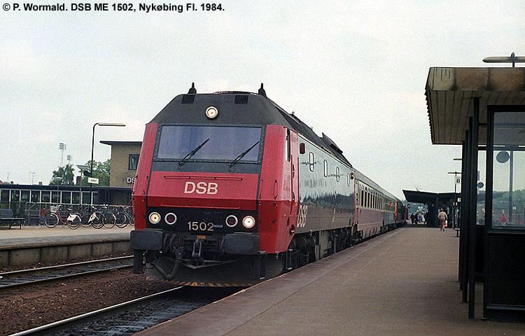 DSB ME 1502 blev bygget af Henschel i 1981