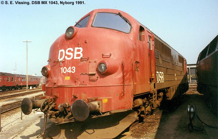 DSB MX 1043 Blev Bygget Af Nohab I 1962