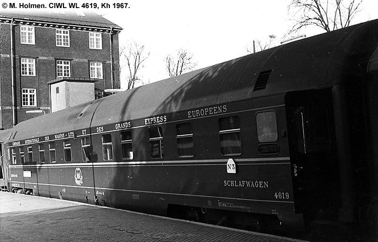 CIWL - Compagnie Internationale des Wagons-Lits - DSB WL 4619