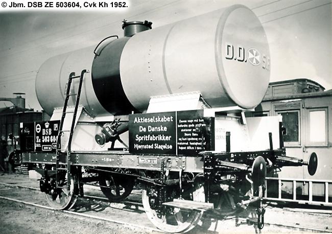 DDSF - De Danske Spritfabrikker A/S - DSB ZE 503604