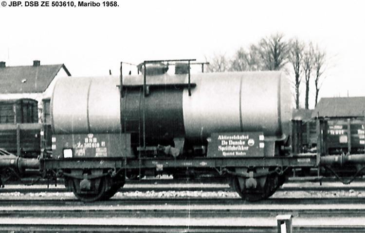DDSF - De Danske Spritfabrikker A/S - DSB ZE 503610