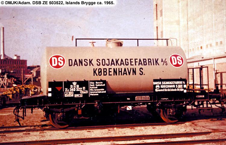 Dansk Sojakagefabrik A/S - DSB ZE 503522