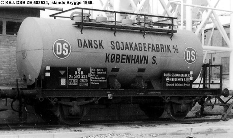 Dansk Sojakagefabrik A/S - DSB ZE 503524