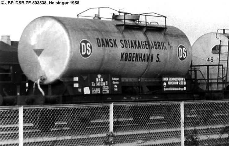 Dansk Sojakagefabrik A/S - DSB ZE 503538