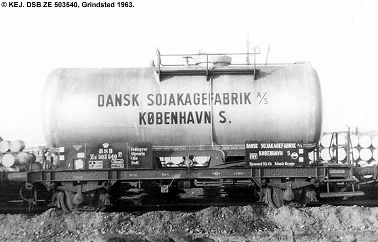 Dansk Sojakagefabrik A/S - DSB ZE 503540