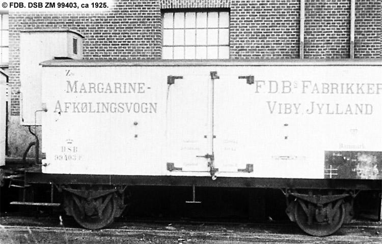 FDB - Fællesforeningen for Danmarks Brugsforeninger - DSB ZM 99403