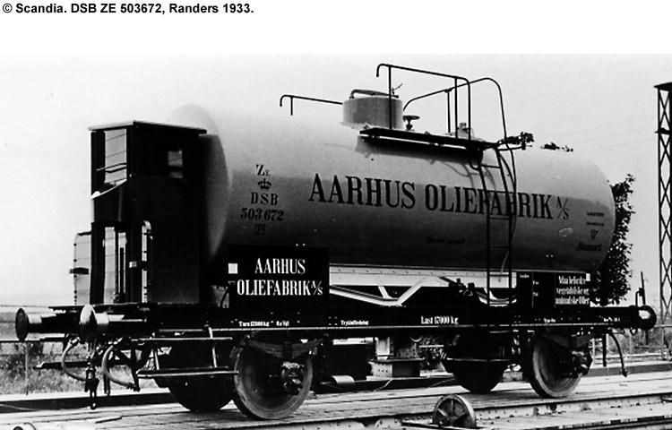 Århus Oliefabrik A/S - DSB ZE 503672