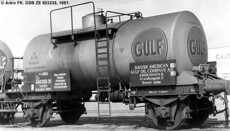 Danish American Gulf Oil Company A/S - DSB ZE 503235