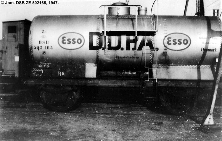 DDPA - Det Danske Petroleums-Aktieselskab - DSB ZE 502165