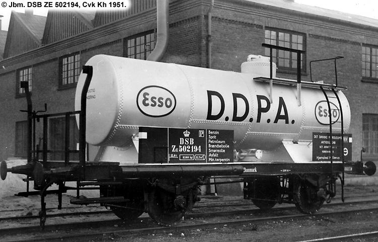 DDPA - Det Danske Petroleums-Aktieselskab - DSB ZE 502194