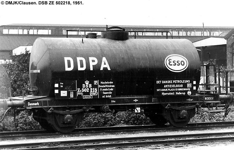 DDPA - Det Danske Petroleums-Aktieselskab - DSB ZE 502218