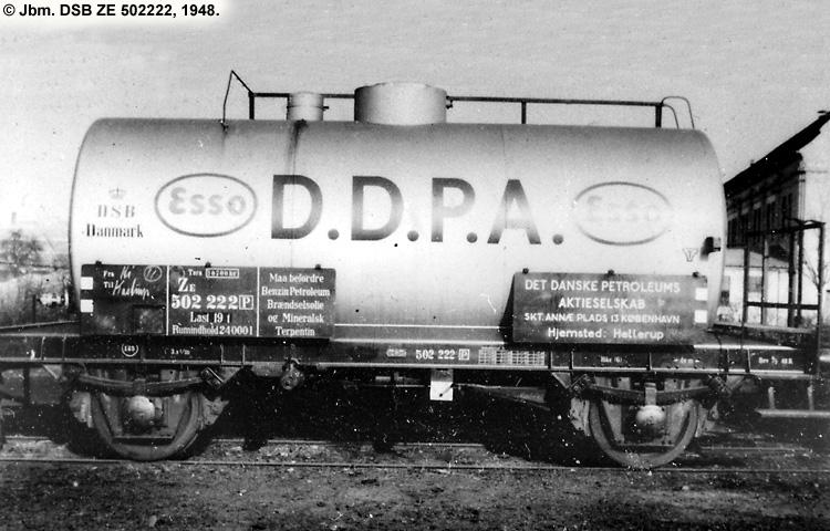 DDPA - Det Danske Petroleums-Aktieselskab - DSB ZE 502222