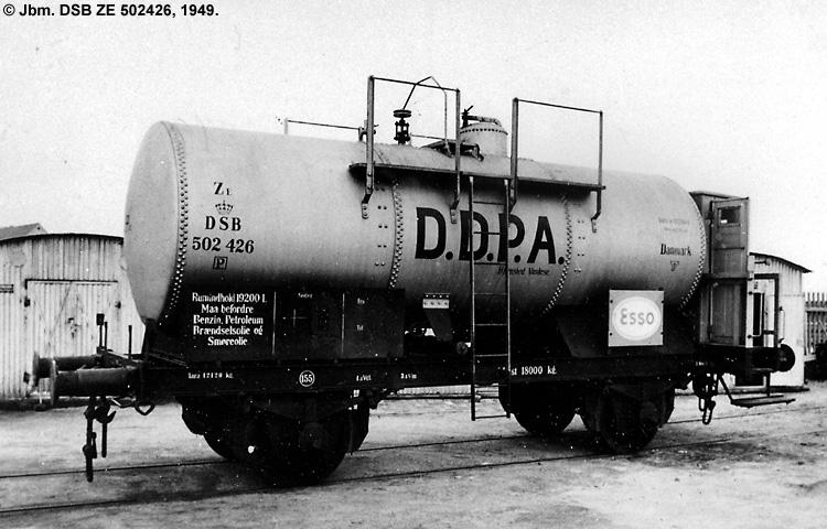DDPA - Det Danske Petroleums-Aktieselskab - DSB ZE 502426