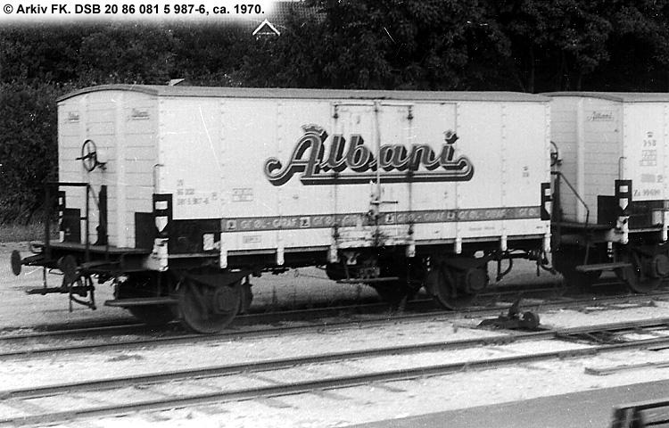 Albani Bryggerierne A/S - DSB 20 86 081 5 987 - 6