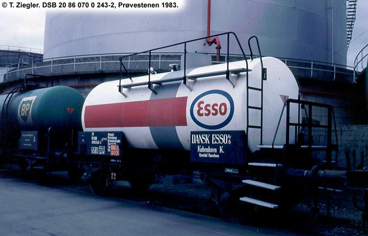Dansk Esso A/S - DSB 20 86 070 0 243 - 2
