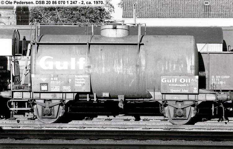 Gulf Oil A/S - DSB 20 86 070 1 247 - 2