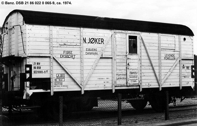 N. Jøker - DSB 21 86 022 0 065 - 9