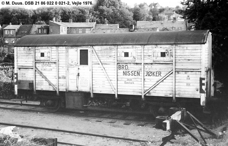 Brødrene Nissen Jøker - DSB 21 86 022 0 021 - 2