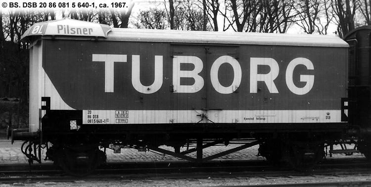 Tuborgs Bryggerier A/S - DSB 20 86 081 5 640 - 1