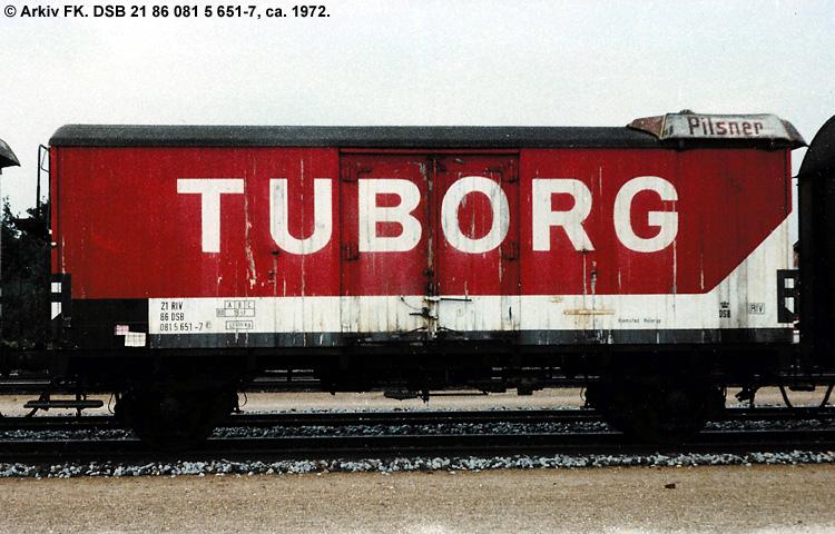 Tuborgs Bryggerier A/S - DSB 21 86 081 5 651 - 7
