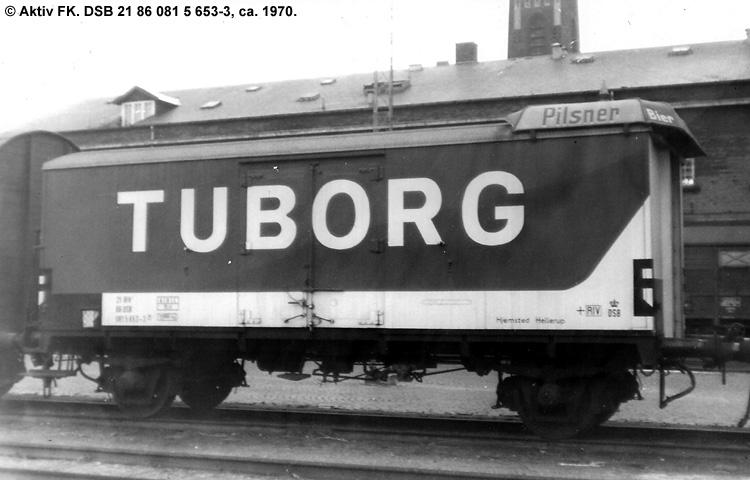 Tuborgs Bryggerier A/S - DSB 21 86 081 5 653 - 3
