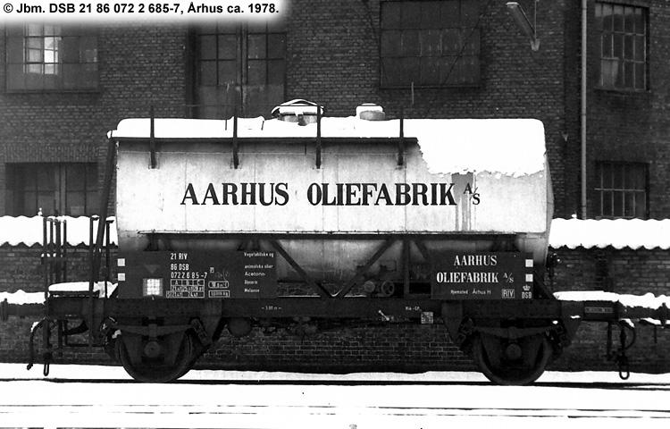 Århus Oliefabrik A/S - DSB 20 86 070 1 685 - 3