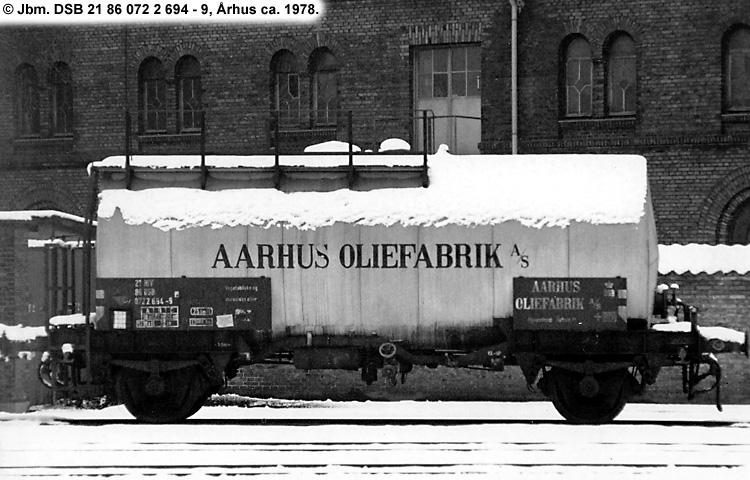 Århus Oliefabrik A/S - DSB 20 86 070 1 694 - 5