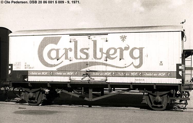 Carlsberg Bryggerierne - DSB 20 86 081 5 009 - 9