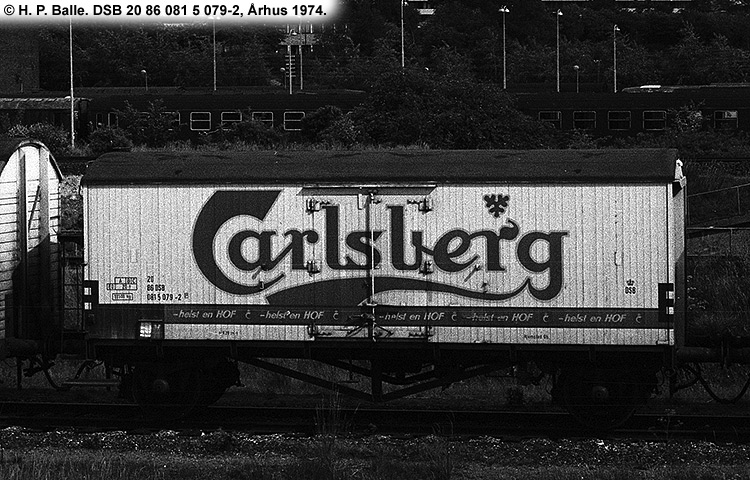 Carlsberg Bryggerierne - DSB 20 86 081 5 079 - 2
