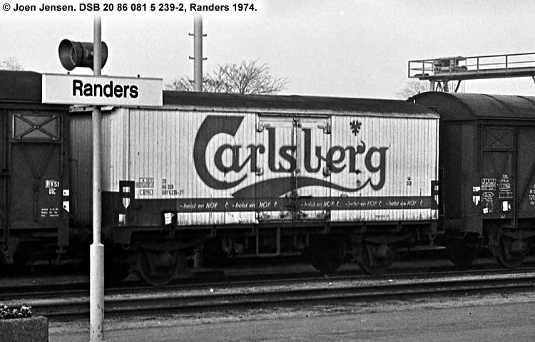 Carlsberg Bryggerierne - DSB 20 86 081 5 239 - 2
