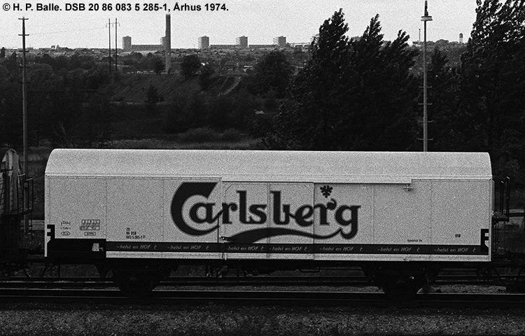 Carlsberg Bryggerierne - DSB 20 86 083 5 285 - 1