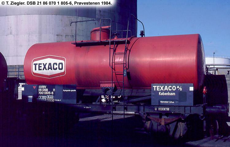 Texaco A/S - DSB 23 86 700 1 805 - 6