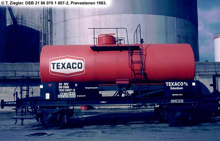 Texaco A/S - DSB 23 86 700 1 807 - 2