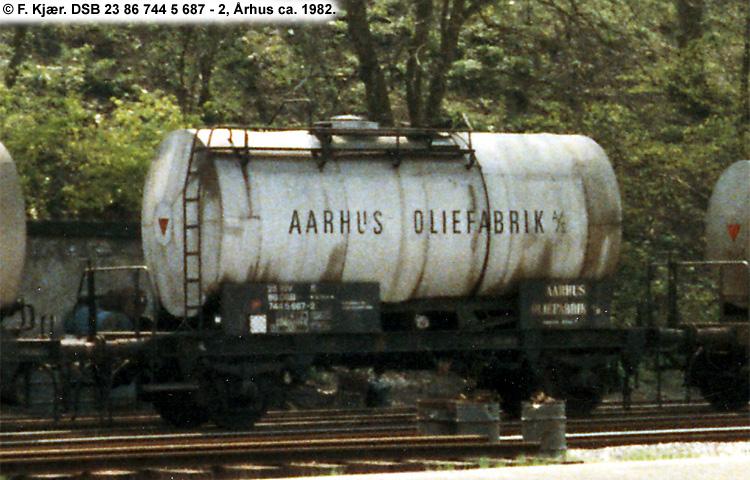 Århus Oliefabrik A/S - DSB 23 86 744 5 687 - 2