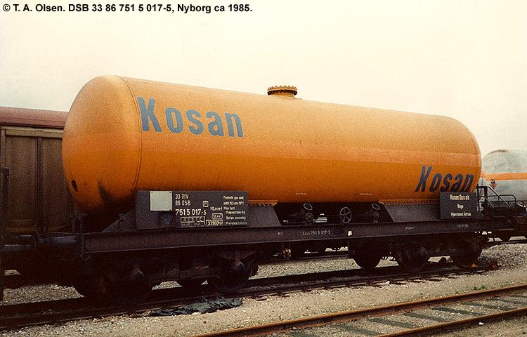 Kosan Tankers A/S - DSB 33 86 751 5 017 - 5