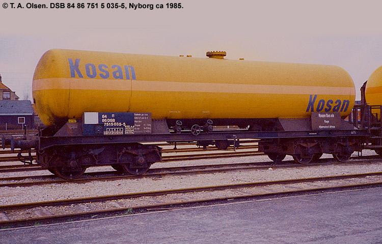 Kosan Tankers A/S - DSB 33 86 751 5 035 - 7
