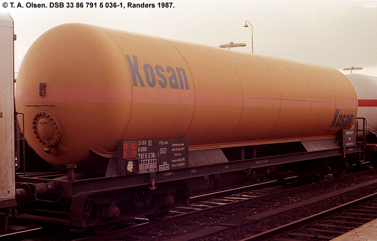 Kosan Tankers A/S - DSB 33 86 791 5 036 - 1