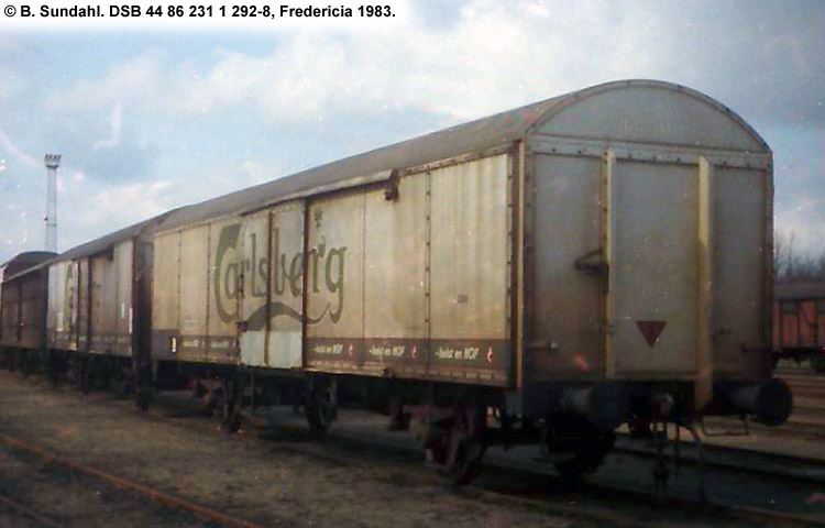 Carlsberg Bryggerierne - DSB 44 86 231 1 292 - 8