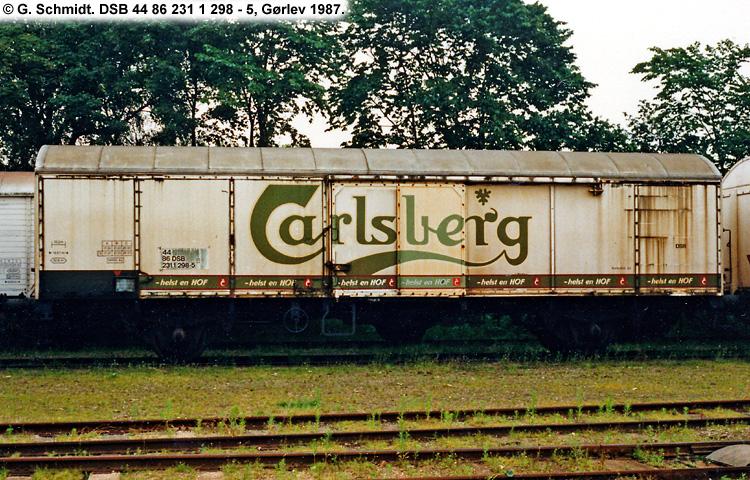 Carlsberg Bryggerierne - DSB 44 86 231 1 298 - 5