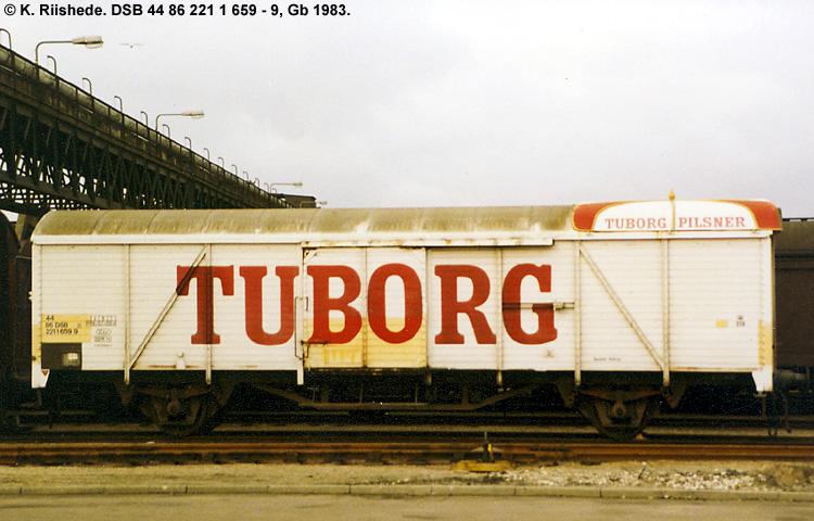 Tuborg Bryggerierne A/S - DSB 44 86 221 1 659 - 9