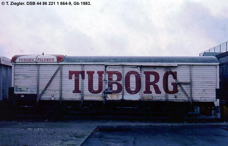 Tuborg Bryggerierne A/S - DSB 44 86 221 1 664 - 9