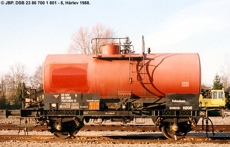 DFO - Den Fælles Olielevering A/S - DSB 23 86 700 1 801 - 5