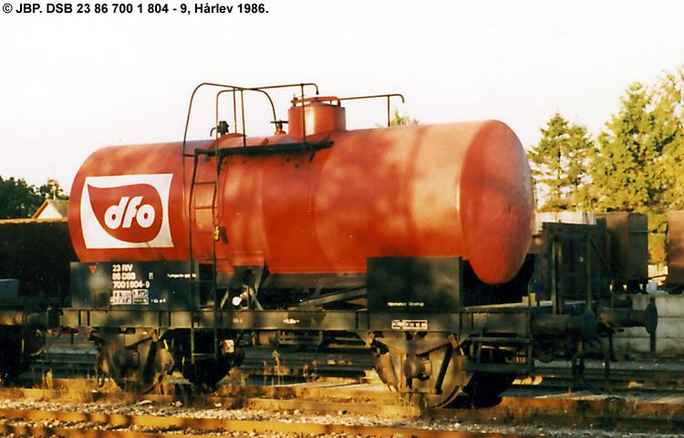 DFO - Den Fælles Olielevering A/S - DSB 23 86 700 1 804 - 9