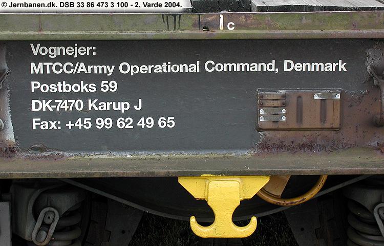 Hærens Operative Kommando - DSB 33 86 473 3 100 - 2