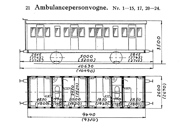DSB Ambulancepersonvogn nr. 21