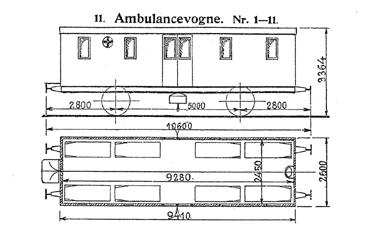 DSB Ambulancevogn nr. 1