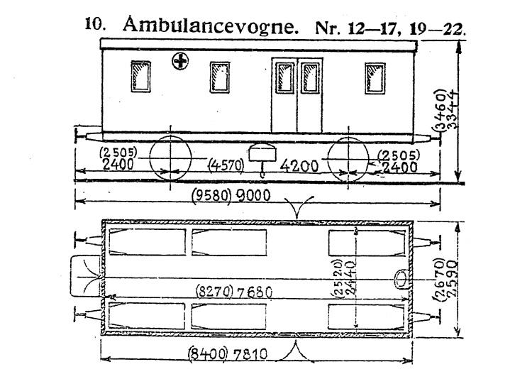 DSB Ambulancevogn nr. 21