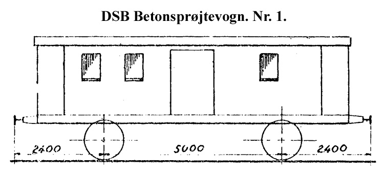 DSB Betonsprøjtevogn nr. 1