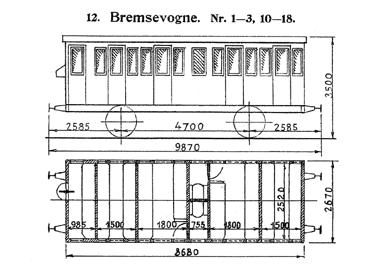 DSB Bremsevogn nr. 11